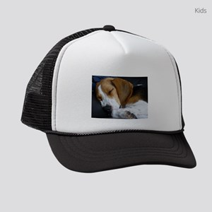 beagle sleeping Kids Trucker hat