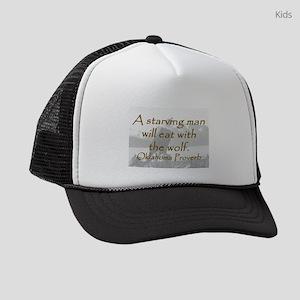 A Starving Man Kids Trucker hat