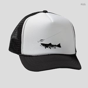 Black Trout Kids Trucker hat