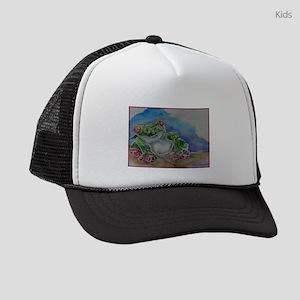 Tree Frog, rainforest, art! Kids Trucker hat