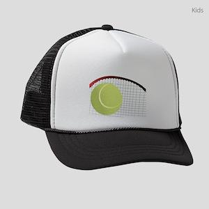 Tennis Ball and Racket Kids Trucker hat