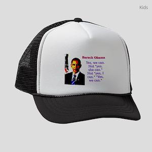 Yes We Can - Barack Obama Kids Trucker hat