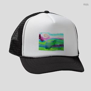 landscape, colorful art! Kids Trucker hat