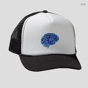 Digital Anatomical Brain Kids Trucker hat