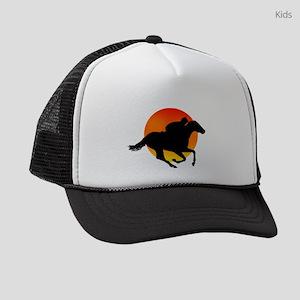 Horse Racing Kids Trucker hat