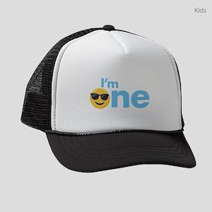 Emoji Birthday One Kids Trucker hat