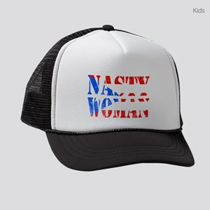 Nasty Woman Puerto Rican Flag Kids Trucker hat