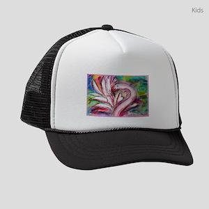 Flamingo, colorful, fun, art! Kids Trucker hat