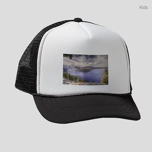 Crater lake artwork Kids Trucker hat