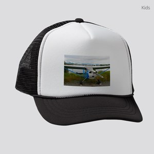High wing aircraft, blue & wh Kids Trucker hat