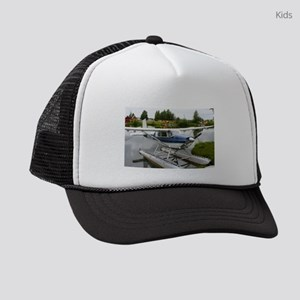 White & navy float plane, Ala Kids Trucker hat