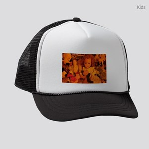 old doll in room of toys Kids Trucker hat