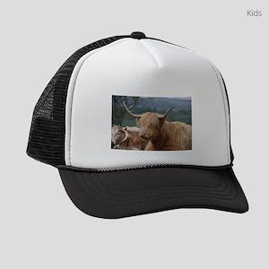 Highland cattle Kids Trucker hat