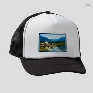 Alaskan float plane parked at the Kids Trucker hat