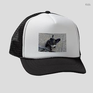 Cute blue Frenchie Kids Trucker hat