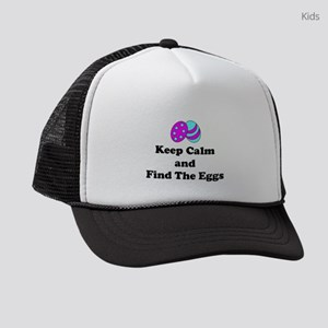 Easter Keep Calm And Find The Eggs Kids Trucker ha