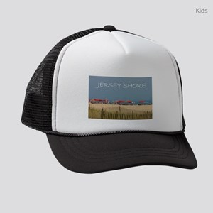 Jersey Shore Beach Umbrellas Kids Trucker hat