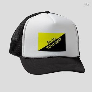 Ancap Flag Rule Yourself Kids Trucker hat