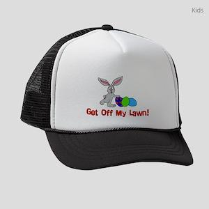 Get Off My Lawn Kids Trucker hat