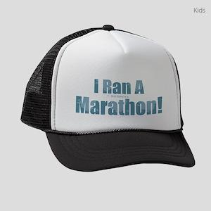 I Ran a Marathon Kids Trucker hat