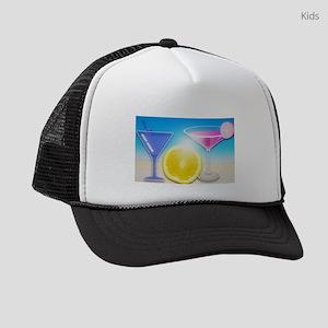 Pink & Blue Cocktails Kids Trucker hat