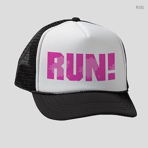 RUN - Pink Kids Trucker hat