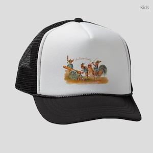 Easter Bunny War Vintage Kids Trucker hat