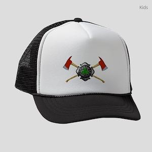 Firefighter shamrock shield Kids Trucker hat