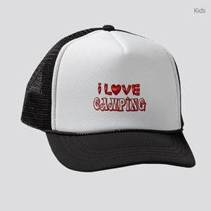 I Love Camping Kids Trucker hat