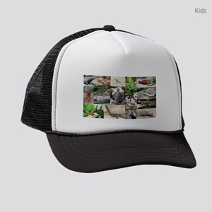 Lizard Types full Color Kids Trucker hat