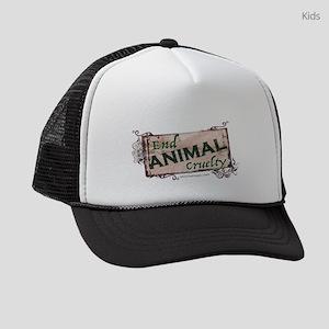 End Animal Cruelty Kids Trucker hat