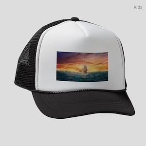 Pirate ship Kids Trucker hat
