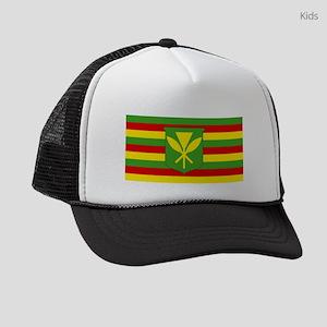 Kanaka Maoli Flag - Hawaiian Inde Kids Trucker hat