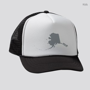 Alaska State Shape Outline Kids Trucker hat