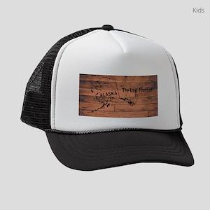 Alaska Map Brand Kids Trucker hat