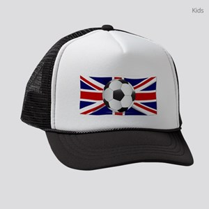 British Flag and Football Kids Trucker hat