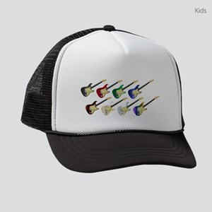 Electric Guitar Collection Kids Trucker hat