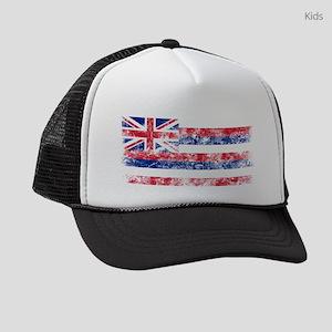 Vintage Hawaii State Flag Kids Trucker hat