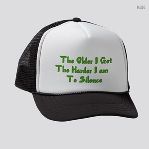 Too Old To Silence Kids Trucker hat