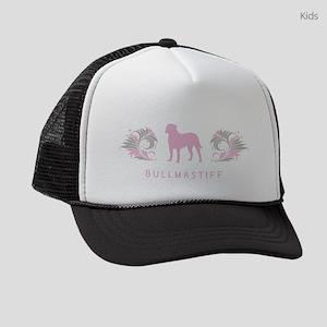 36-pinkgray Kids Trucker hat