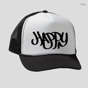 Happy graffiti tag Kids Trucker hat