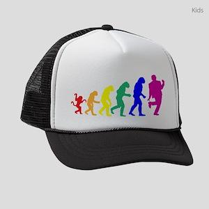 Gay Evolution Kids Trucker hat