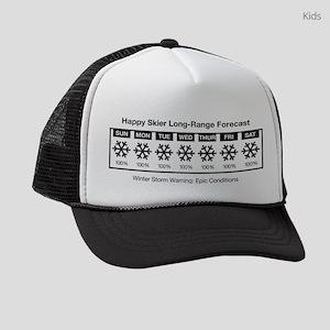 Happy Skier Forecast Kids Trucker hat