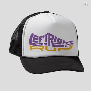 Left Foot Right Foot Run Logo Kids Trucker hat