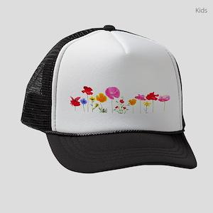 wild meadow flowers Kids Trucker hat