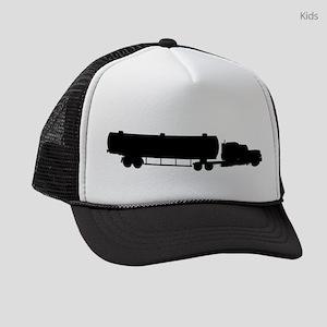 Tanker Truck Silhouette Kids Trucker hat