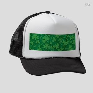Shamrock Pattern Kids Trucker hat