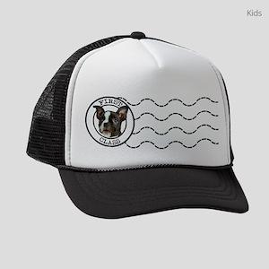 First Class Boston Terrier Kids Trucker hat