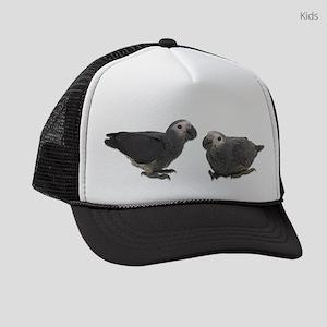 African Gray Parrots Kids Trucker hat