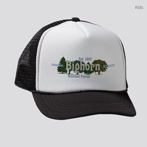Woodcut Classic Bighorn National Kids Trucker hat